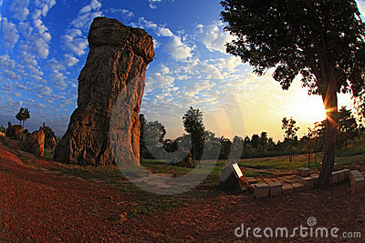 Mor Hin Khao, Thailand stonehenge in morning