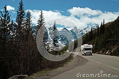 Moraine Lake, Banff National Park, Alberta, Canada Editorial Photo