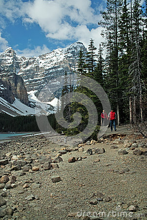Moraine Lake, Banff National Park, Alberta, Canada Editorial Image