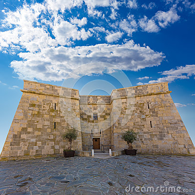Free Moraira Castle In Teulada Beach At  Alicante Royalty Free Stock Photography - 38585867