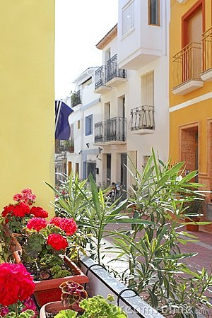Free Moraira Teulada Mediterranean Village Streets Royalty Free Stock Photography - 15362627