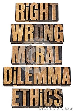 Moral dilemma concept