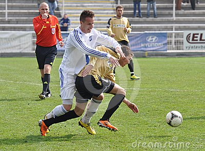 Moravian-Silesian League, footballer B. Forster Editorial Image