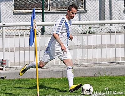 Moravian-Silesian League, footballer Boris Forster Editorial Photography