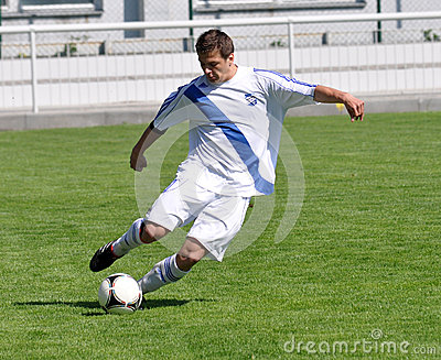 Moravian-Silesian League, footballer Erik Talian Editorial Image