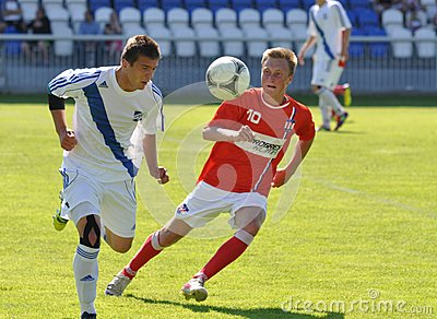 Moravian-Silesian League, footballer Erik Talian Editorial Stock Image