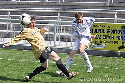Moravian-Silesian League, footballer Jiri Prokes Editorial Stock Photo