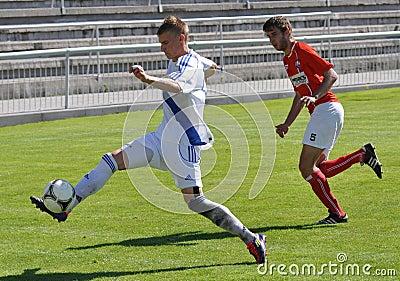 Moravian-Silesian League, footballer Matej Biolek Editorial Image