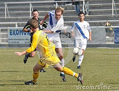 Moravian-Silesian League, footballer Petr Soukup Editorial Photography