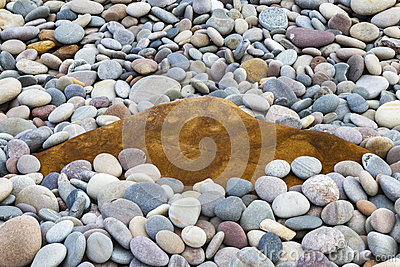 Moray pebbles and rock.