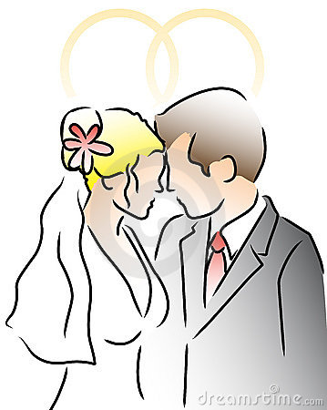 Morder wedding couple with rings