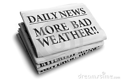 More bad weather daily newspaper headline
