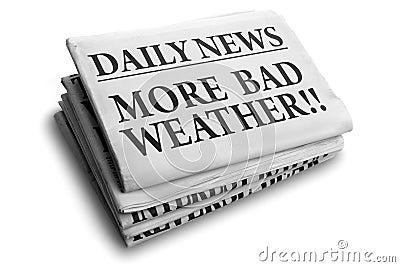 More bad weather daily newspaper headline