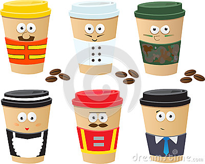 More Coffee Cups Characters