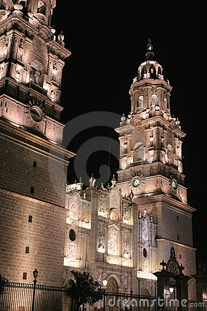 Morelia cathedral, mexico.