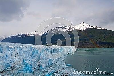 Moreno Glacier Rainbow with water