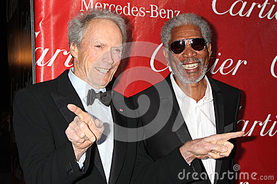 Morgan Freeman,Clint Eastwood Editorial Stock Photo