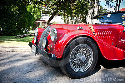 Morgan Plus 8 on Vintage Car Parade Editorial Photography