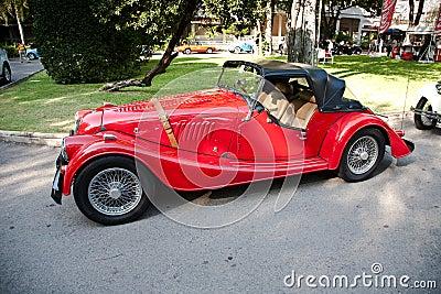 Morgan Plus 8 on Vintage Car Parade Editorial Image