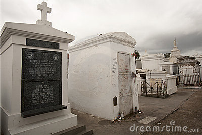 Marie Laveau gravesite in St Louis Cemetery No 1 Editorial Photography