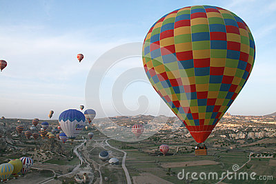 Morning balloons Editorial Stock Image