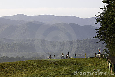 Morning Bike Ride in Cades Cove Editorial Photo
