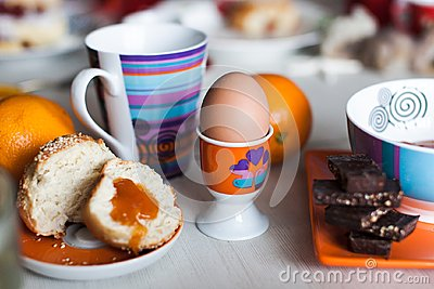 Morning breakfast stand for eggs
