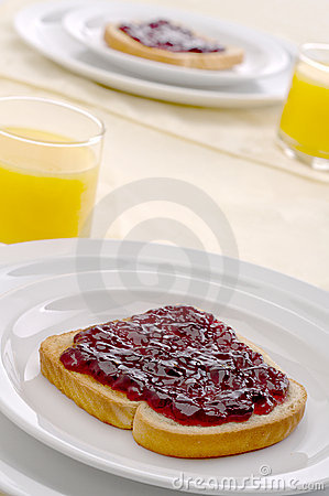 Morning breakfast with toast