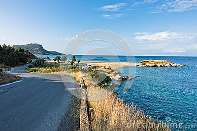 Morning at campers favorite site for summer vacations Stock Photo