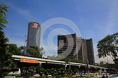 Morning city view of Kuala Lumpur Editorial Stock Photo