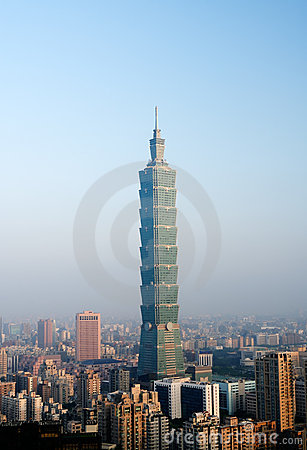 Free Morning Cityscape Of Taipei Stock Images - 10995404