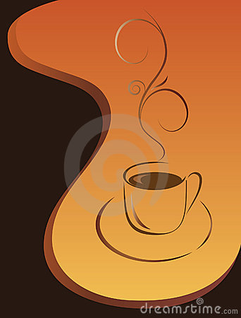 Morning cup of black coffee