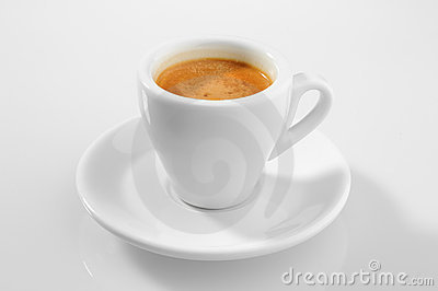 Morning the cup of espresso