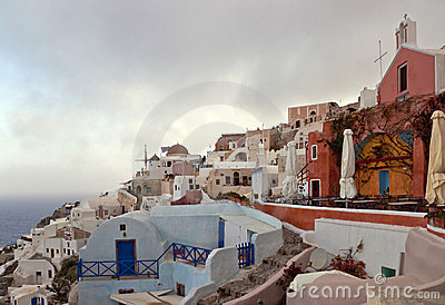 Morning in the cyclades village
