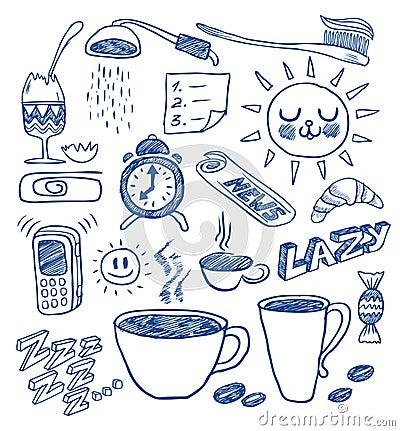 Free Morning Doodles Stock Photo - 12148320
