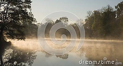 Morning fog over water