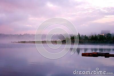 Morning fog water