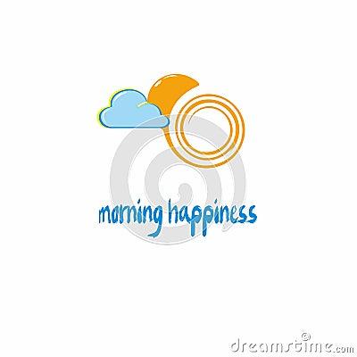 Morning happynes Vector Illustration