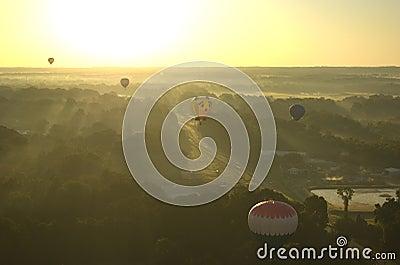 Morning Hot Air Balloon Liftoff