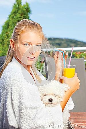 Morning juice on terrace