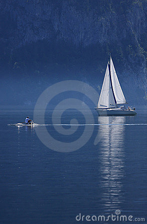 Morning of Lake Traunsee, Upper Austria