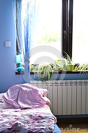 Morning light in bedroom