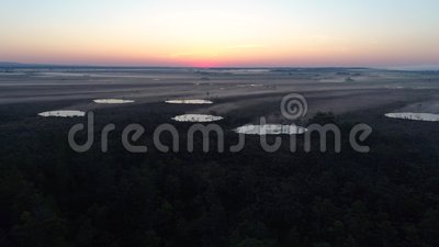 Morning light on the big mire stock footage
