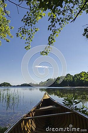 Canoe on Lake Shoreline