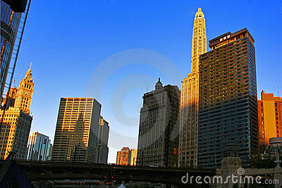 Morning light of Chicago