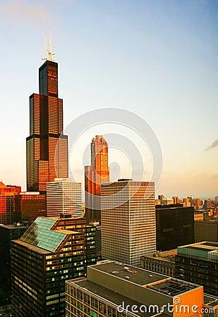 Morning light of Chicago