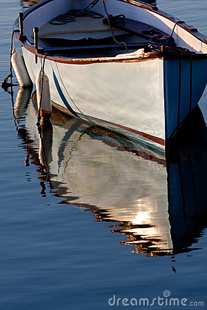 Free Morning Light On A Grey Boat Stock Photography - 16842452