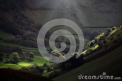 Morning light valley landscape
