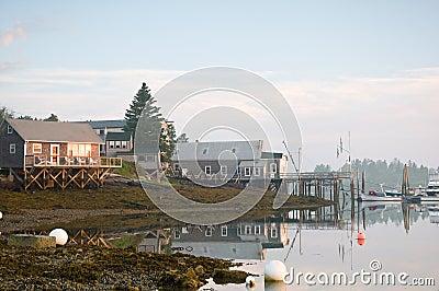 Morning at Maine marina