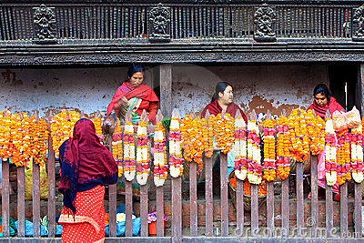 Morning marketing,Patan,Nepal Editorial Photography